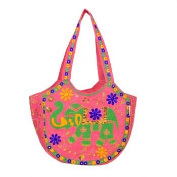 PINK Rajasthani Handbags for Women