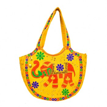 YELLOW Rajasthani Handbags for Women