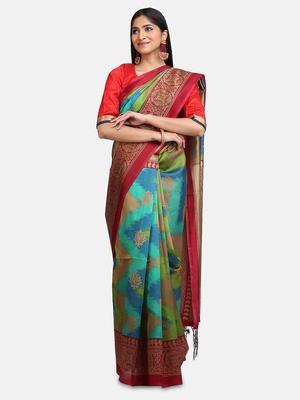 Rama Art Silk Printed Saree