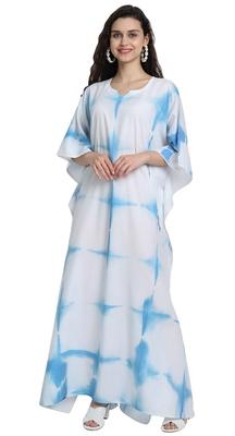 JSDC Casual Wear Tie-Dye Cotton Printed Women Long Ankle Length Kaftan
