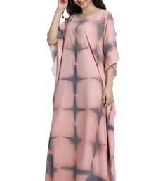 JSDC Lounge Wear Women Free Size Printed Poly Cotton Fabric Kaftan