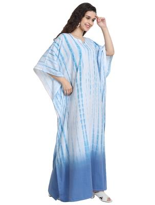 JSDC Women Beach Wear Long Ankle Length Printed Tie Dye Cotton Kaftan