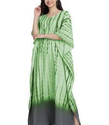 JSDC Casual Wear Printed Tie-Dye Women Long Cotton Kaftan