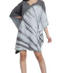 JSDC Women Beach Wear Short Length Printed Tie Dye Cotton Kaftan