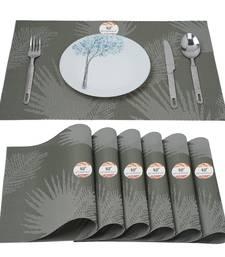 NFI essentials PVC Dining Table Dinner Mats Set of 6 Pcs Dinner Placemats Multipurpose Dinner & Kitchen Coaster (Green)
