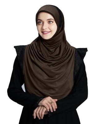 Mehar Hijab's Modest Women's Designed Stylish Polycotton Feel Good Fabric  Naaz Hijab Formal Grey-Black Glit