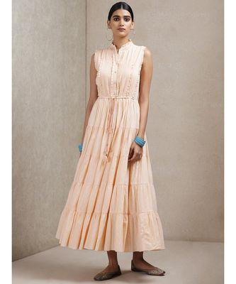 Peach Self-Work Dress