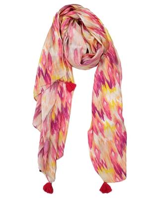 Pleasing Muslin Fabric Multicolor Printed women scarf/Stoles