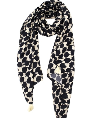 Alluring Muslin Fabric Multicolor Printed women scarf/Stoles