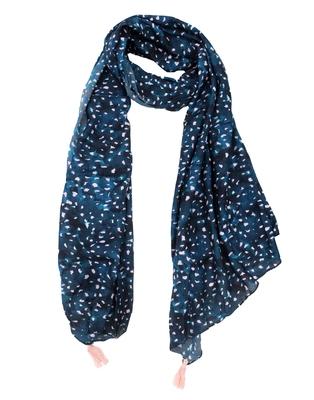 Beautiful Muslin Fabric Rama Blue Printed women scarf/Stoles