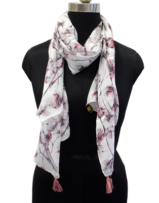Dazzling Muslin Fabric Multicolor Printed women scarf/Stoles