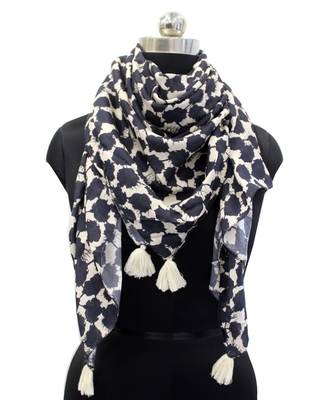 Pleasing Muslin Fabric Multicolor Printed women SQUARE scarf/Stoles