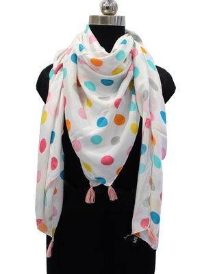 Appealing Muslin Fabric Multicolor Printed women SQUARE scarf/Stoles