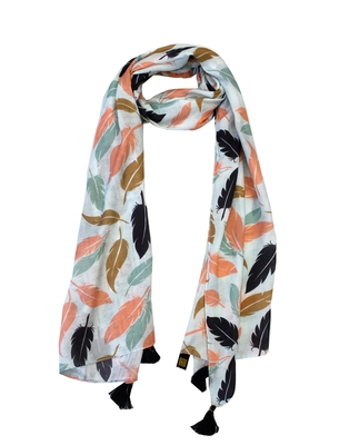 Dazzling Muslin Fabric Multicolor Printed women scarf/Stoles With Tassels