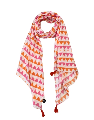 Pretty Muslin Fabric Multicolor Printed women scarf/Stoles With Tassels