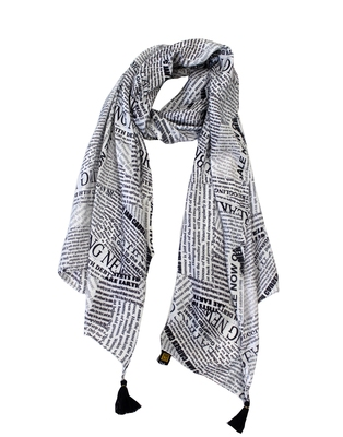 Elegant Muslin Fabric Multicolor Printed women scarf/Stoles With Tassels