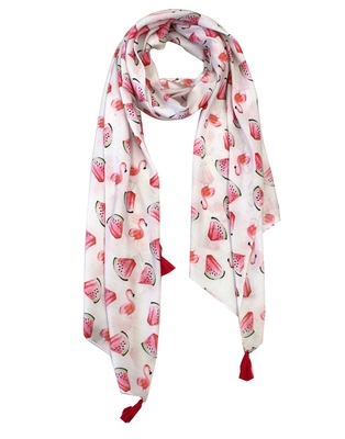 Beautiful Muslin Fabric Multicolor Printed women scarf/Stoles With Tassels