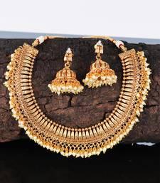 Gold Plated Polki Designer Necklace Sets