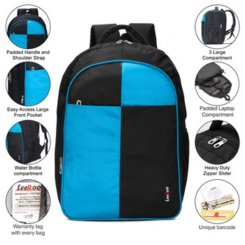 LeeRooy Box S. Blue & Black Backpack