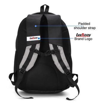 LeeRooy Blue & Black Multi Pocket Big Laptop Backpack