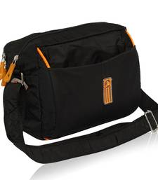 NFI essentials Men's Sling Bag Stylish Cross Body Travel Office Business Messenger Bag for Men Women (Black)