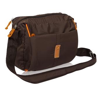NFI essentials Men's Sling Bag Stylish Cross Body Travel Office Business Messenger Bag for Men Women (Brown)