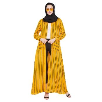 Yellow plain rayon abaya