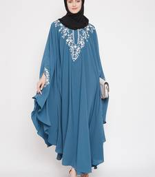 Sky-blue embroidered kashibo islamic-kaftans