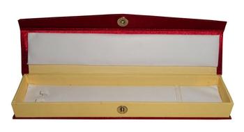 Atorakushon® Satin Maroon Jewellery Necklace Chain box Travelling  Storage Box Wedding Organised for Women pack of 1