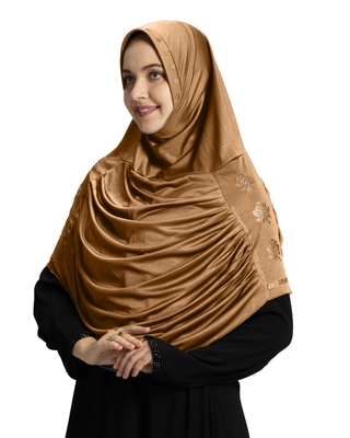 Modest Women's Embellished with Glittering Stone Designs Polycotton Feel Good Fabric  AASIMAH  HIJAB