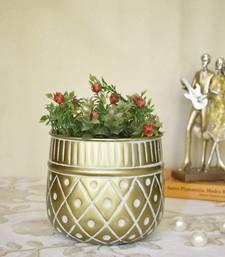 Gold Embossed Planter cum Vase