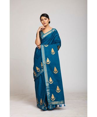 blue cotton sarees