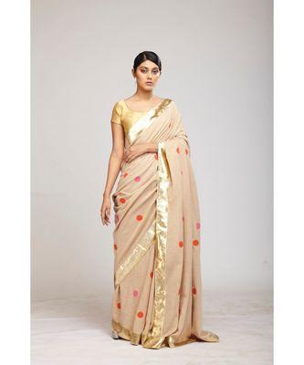 pink jute sarees