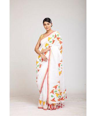 white cotton sarees