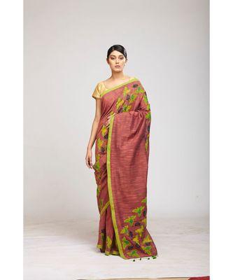 magenta cotton sarees