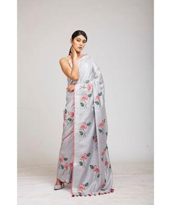 grey cotton sarees