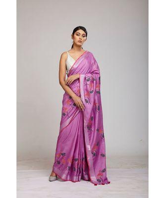 mauve cotton sarees