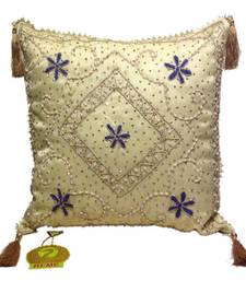 Buy Sequined Beaded Cushion Cover Pearl cushion-cover online