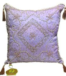 Buy Sequined Beaded Mauve Cushion Cover cushion-cover online