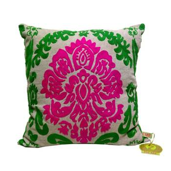 Bold Embroidered Cushion Cover
