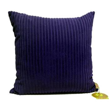 Quilted Velvet Cushion Cover In Blue Color