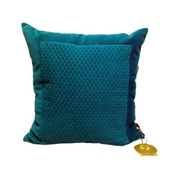 Blue Square Quilted Patterned Cushion Cover