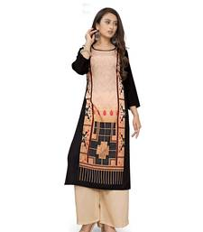 Latest black crepe kurti