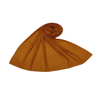 Plain Chiffon Hijab - Dark Yellow - Size - 75/185 CM