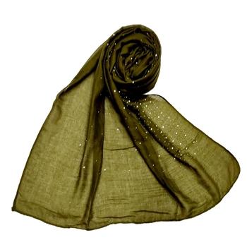 Cotton Dew Drop Hijab - Green - Size - 75/185 CM