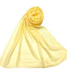 Cotton Dew Drop Hijab - Yellow - Size - 75/185 CM