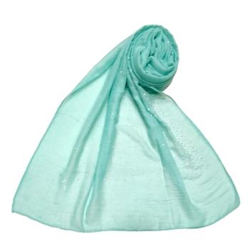 Cotton Dew Drop Hijab - Sea Blue - Size - 75/185 CM