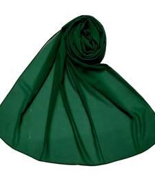 Plain Chiffon Hijab - Dark Green - Size - 75/185 CM