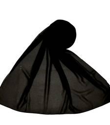 Plain Chiffon Hijab - Black - Size - 75/185 CM