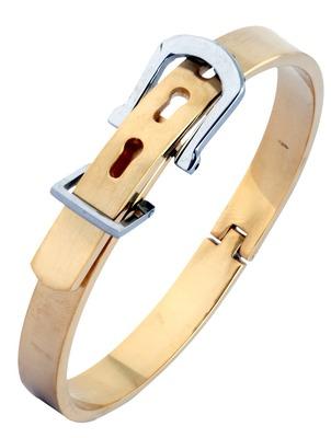Watch Buckle Style Free Size Stainless Steel Kada Bracelet for Men